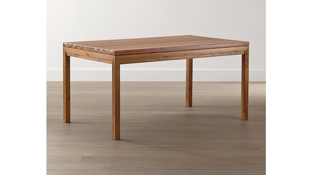 Reclaimed Wood Top/ Elm Base 48x28 High Dining Table