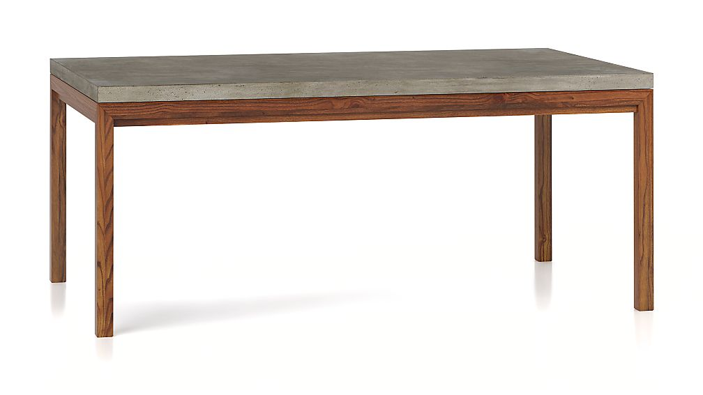Concrete Top/ Elm Base 72x42 Dining Table