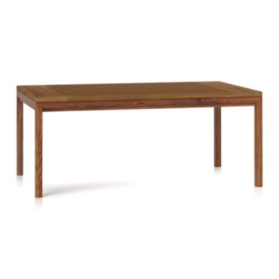 Teak Top/ Elm Base 72x42 Dining Table