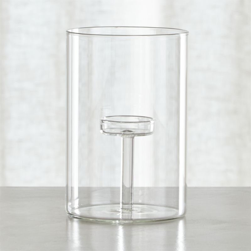 Elsa Large Glass Tea Light Candle Holder
