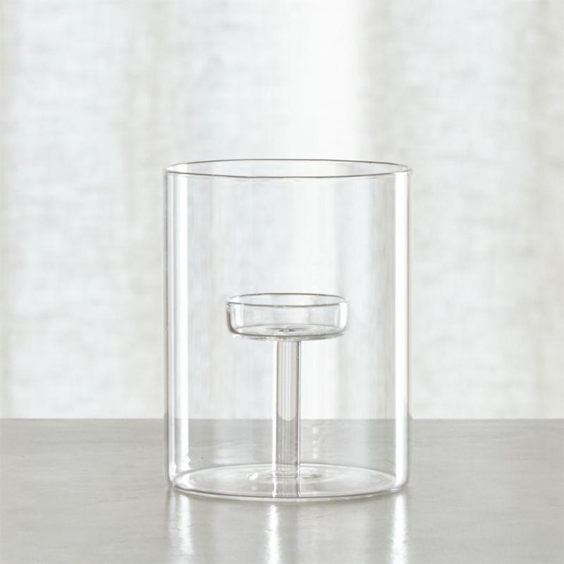 Elsa Medium Glass Tea Light Candle Holder