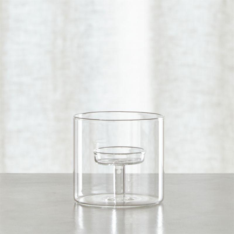 Elsa Small Glass Tea Light Candle Holder