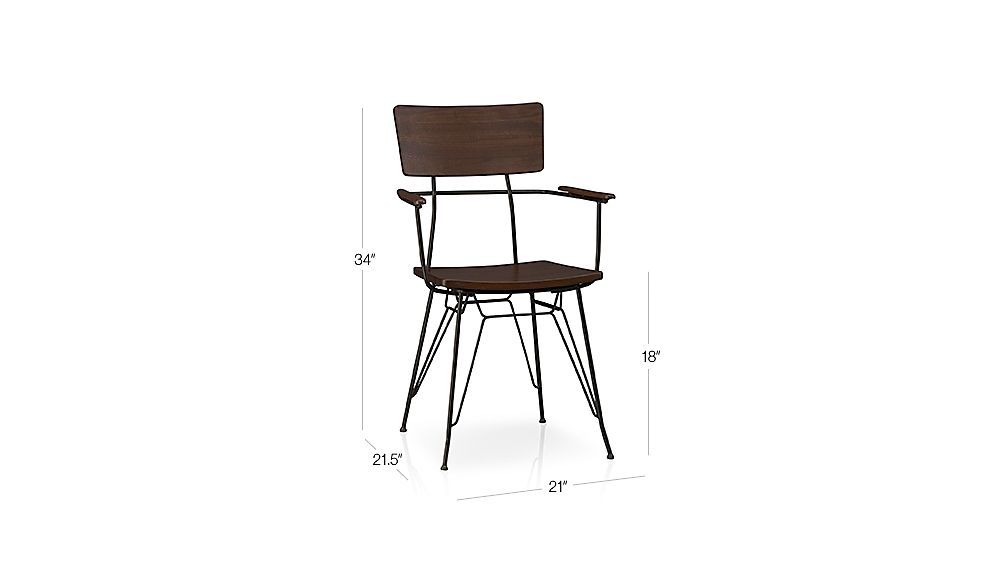 Elston Dining Arm Chair Crate And Barrel