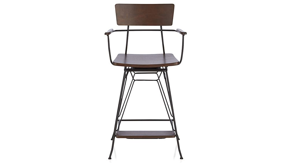 Elston Swivel Bar Stool Crate And Barrel