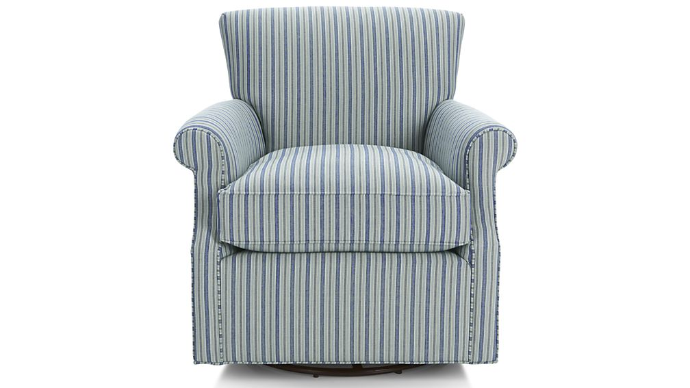 Elyse 360 Swivel Glider Star Navy Crate And Barrel