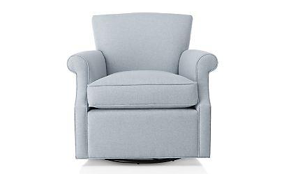 Elyse 360 Swivel Chair Diamond Silvermist Crate And Barrel