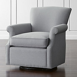 Elyse Light Blue Accent Chair Crate And Barrel