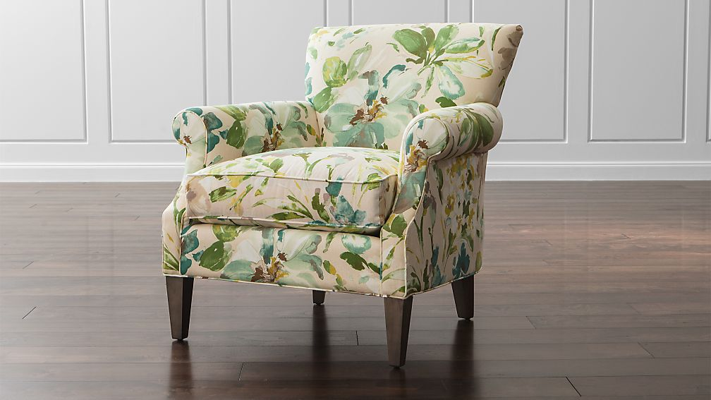 Elyse Floral Accent Chair Crate And Barrel