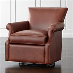 Elyse Leather 360 Swivel Chair