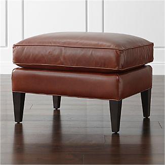 Elyse Leather Ottoman