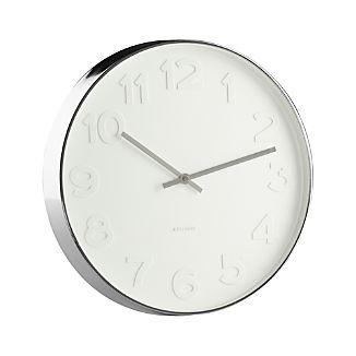 """Embossed Numbers 15"""" Wall Clock"""
