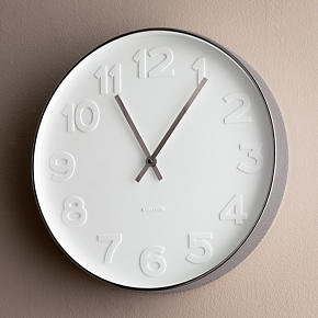 Embossed Numbers 15 Wall Clock - Embossed...