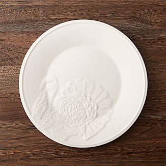 Embossed Turkey Dinner Plate