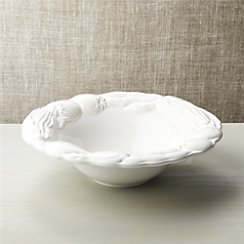 Embossed White Veggie Bowl