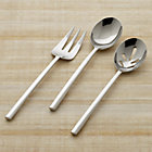 Emerge 3-Piece Serving Set: serving fork, serving spoon, pierced serving spoon.