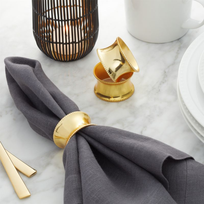 Emerson Gold Napkin Ring Crate And Barrel