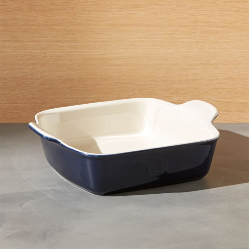 Emile Henry Modern Classic Twilight Blue Square Baking Dish