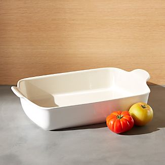 Emile Henry Modern Classic Sugar White Rectangular Baker