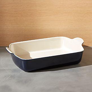 Emile Henry Modern Classic Twilight Blue Rectangular Baker
