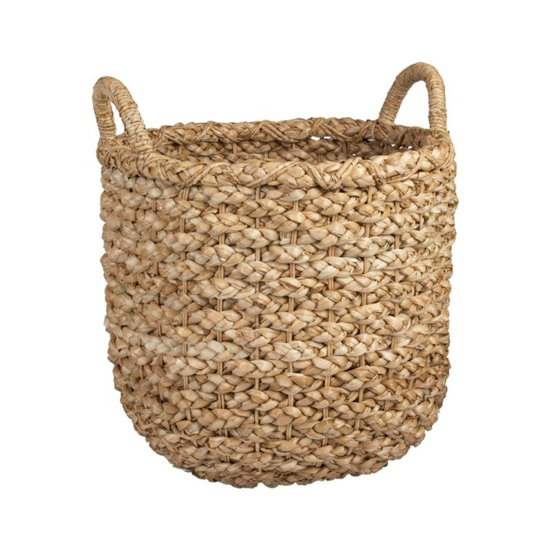 Chunky braids of rustic bankuan leaves weave a tall textural basket, ready to stow toys, towels, magazines and more. Sturdy handles are soft to the touch but strong enough for carting stored items. Casual storage option adds a warm natural touch to any room.<br /><br /><NEWTAG/><ul><li>Bankuan, rattan, wicker and wire</li><li>Indoor use only</li><li>Wipe clean with soft, dry cloth</li><li>Eco-friendly</li><li>Made in The Philippines</li></ul>