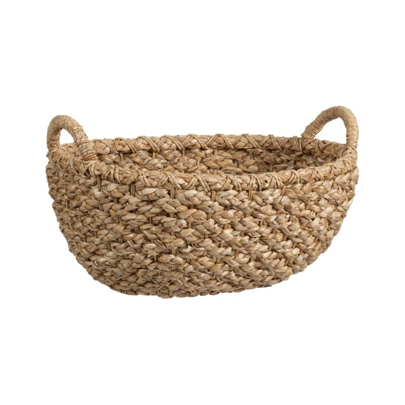 Chunky braids of rustic bankuan leaves weave a tall textural basket, ready to stow toys, towels, magazines and more. Sturdy handles are soft to the touch but strong enough for carting stored items. Casual storage option adds a warm natural touch to any room.<br /><br /><NEWTAG/><ul><li>Bankuan grass and wire</li><li>Indoor use only</li><li>Eco-friendly</li><li>Wipe with dry cloth</li><li>Made in The Philippines</li></ul>