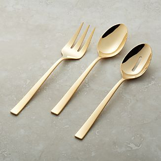 Emory Gold 3-Piece Serving Set