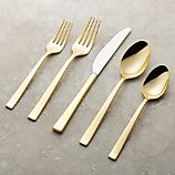Emory Gold 5-Piece Flatware Place Setting