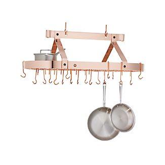 Enclume Oval Copper Ceiling Pot Rack