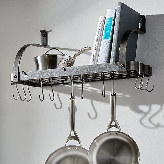 Enclume ® Bookshelf Pot Rack | Crate and Barrel