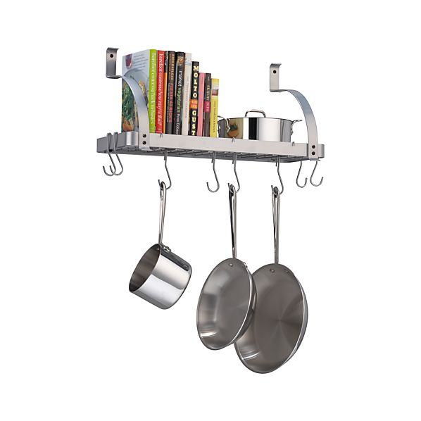 Enclume ® Bookshelf Pot Rack with Bonus