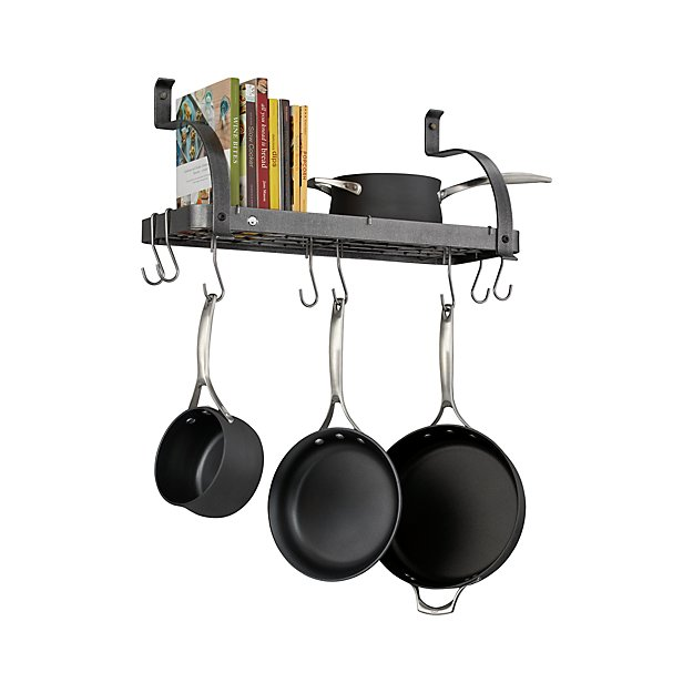 Enclume ® Bookshelf Pot Rack | Crate and Barrel