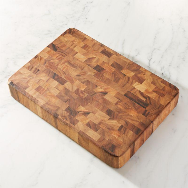 large end grain cutting board block  crate and barrel,