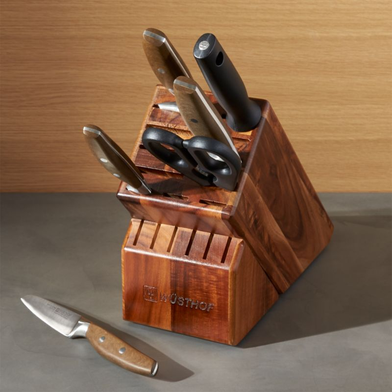 Wusthof 174 Epicure 7 Piece Knife Block Set Crate And Barrel