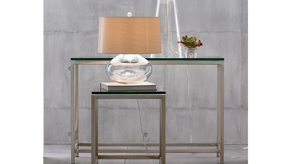 Era Glass Console Table