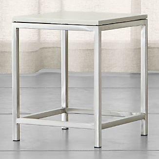Era Limestone Square Side Table