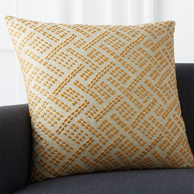 "Ernest Amber 23"" Pillow with Down-Alternative Insert"