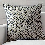 """Ernest Indigo 23"""" Pillow with Feather-Down Insert"""