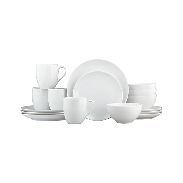 "Essential 16-Piece Dinnerware Set with 5.75"" Bowl"