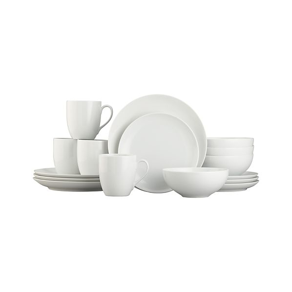 "Essential 16-Piece Dinnerware Set with 7"" Bowl"