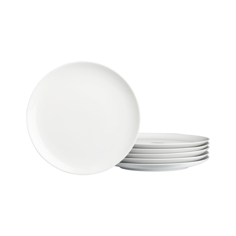 Crisp white oversized coupe shapes in durable porcelain go casual for everyday, or sophisticated for formal dinners.<br /><br /><NEWTAG/><ul><li>Porcelain</li><li>Dishwasher-, microwave- and warm oven-safe to 300 degrees</li></ul>