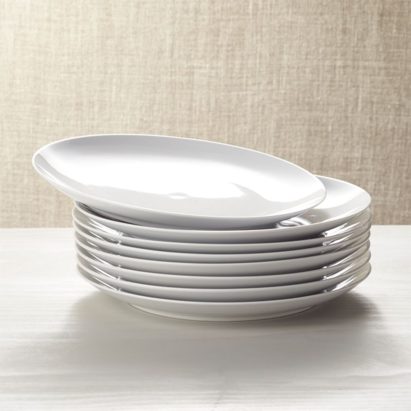 Set Of 8 Essential Dinner Plates Crate And Barrel