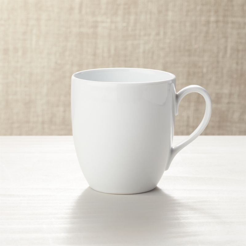 Crisp white oversized shape in durable porcelain goes casual for everyday, or sophisticated for formal dinners.<br /><br /><NEWTAG/><ul><li>Porcelain</li><li>Dishwasher-, microwave- and warm oven-safe to 300 degrees</li><li>Made in Indonesia</li></ul>