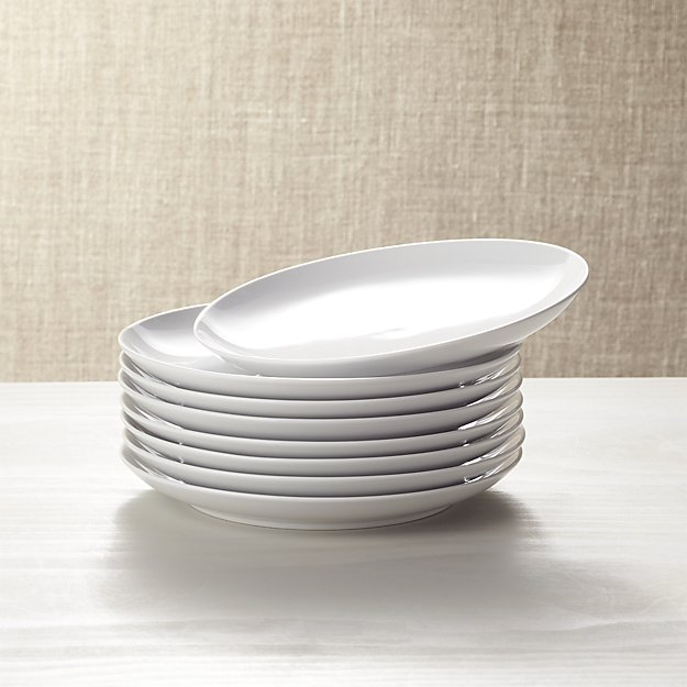 set of 8 essential salad plates crate and barrel