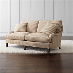 Essex Sofa With Casters Napa Stripe Sand Crate And Barrel