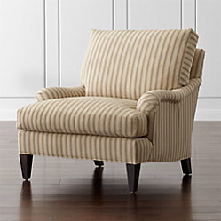 Essex Apartment Sofa With Casters Napa Stripe Sand