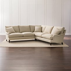 Essex 2-Piece Sectional Sofa with Casters