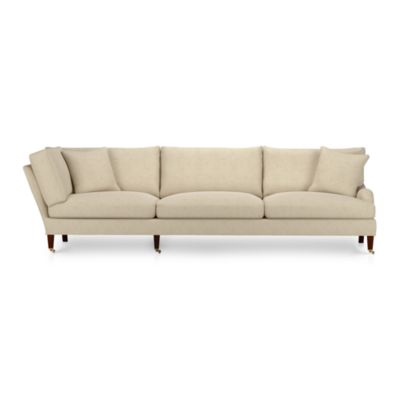 Essex Right Arm Corner Sectional Sofa with Casters