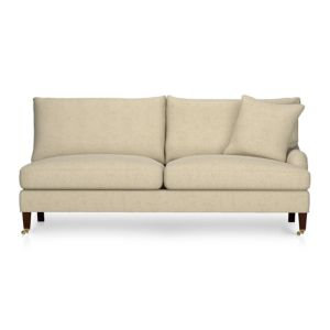 Essex Right Arm Sectional Sofa with Casters