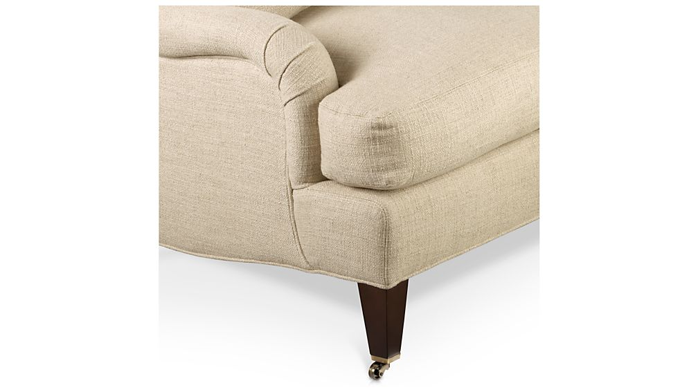 Essex Right Arm Sofa with Casters
