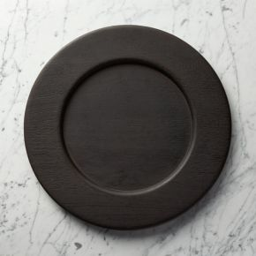 Evans Wood Charger Plate